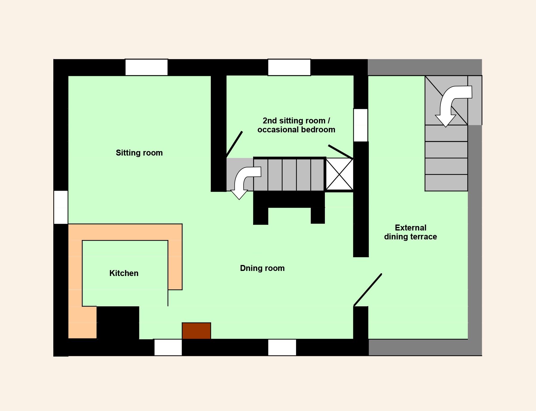 Nougayrede BAs Upstairs Floor Plan